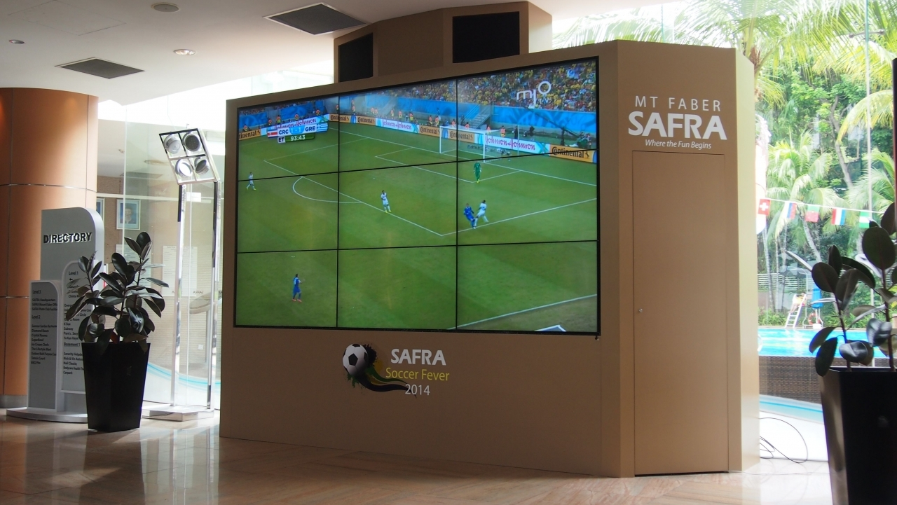 Video Wall Solution at SAFRA Mount Faber